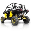 3/4 układ wydechowy HMF Performance Dual Can-Am Maverick brushed